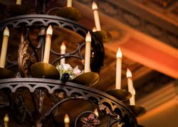 Boquet in the chandelier 2017