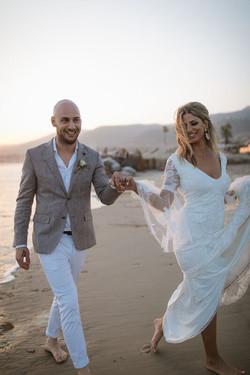 Kon & Bianca's Malibu Destination Small Wedding on Beach