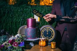 Autumn & Aaron's Lobo Castle Wedding - Halloween Cake Cutting