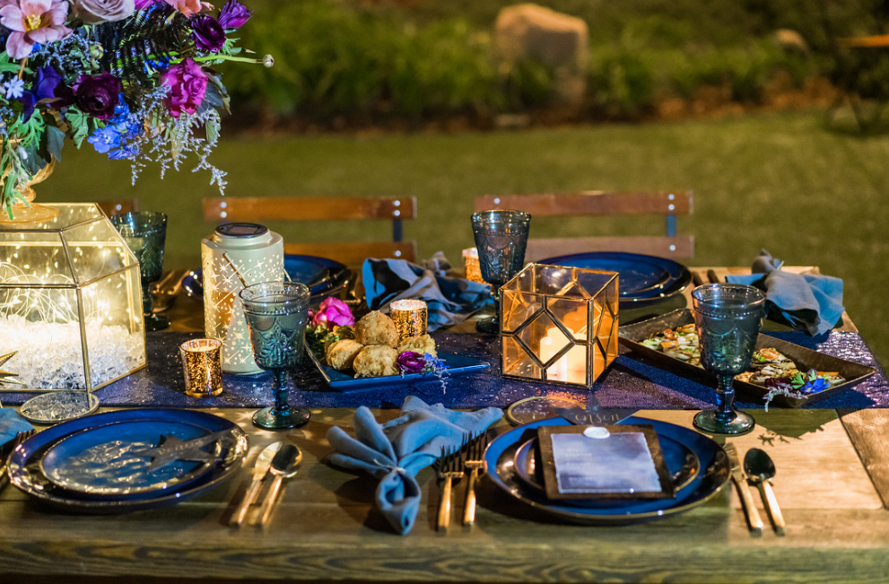 Kara & Nick's Los Robles Celestial Sparkle Night Tablescape