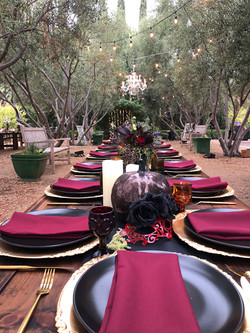 Sharon & Rocky's Guest Tablescape