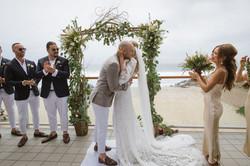 Kon & Bianca's Malibu Destination Small Wedding Ceremony