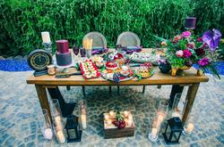 Autumn & Aaron's Lobo Castle Small Wedding Sweetheart table with Apps