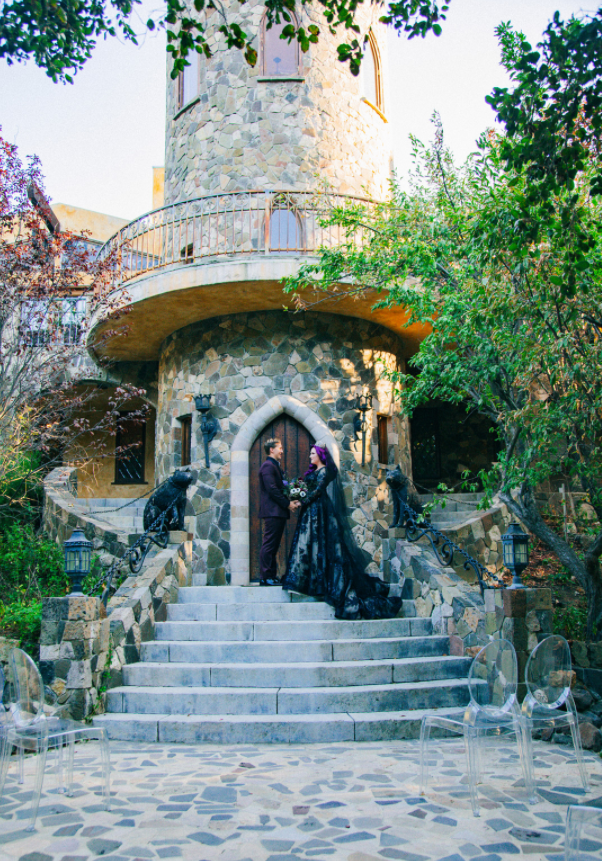 Autumn & Aaron's Lobo Castle Wedding Ceremony Halloween Inspired