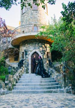 Autumn & Aaron's Lobo Castle Wedding Ceremony Halloween Inspired