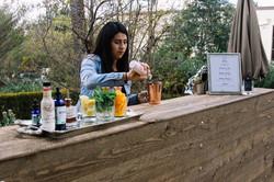 John & Estee's Arlington Garden Bartending from LA Speakeasy pouring coc