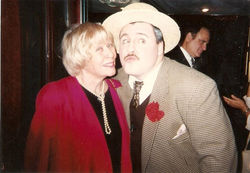 Actor Michael Walters as Jackie Gleason with Gleason Show choreographer June Taylor