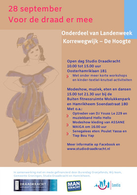 Open Dag Studio Draadkracht en modeshow Assane Maiga 28 september