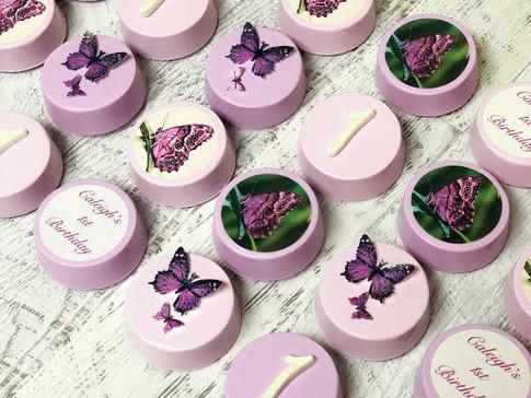 Purple Butterfly 1st Birthday