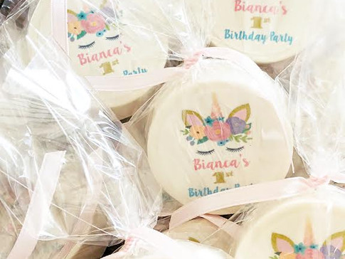 Unicorn Birthday favors