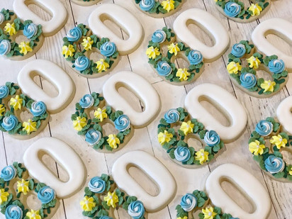 60th Birthday Floral Favors