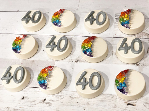 """40th"" Rainbow theme Birthday"