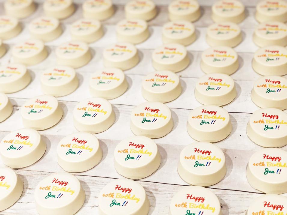 "Happy ""40th"" Rainbow theme Birthday"