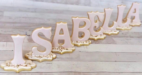 """""""Isabella"""" Standing Letters"""