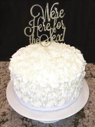 Rosette Reveal Cake