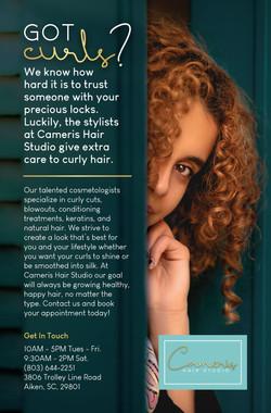 Cameris Hair Studio Magazine Ad