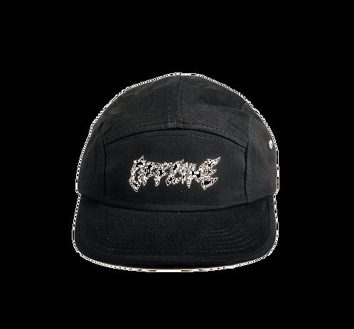 OFFLINE LOGO 5 PANEL CAP BLACK