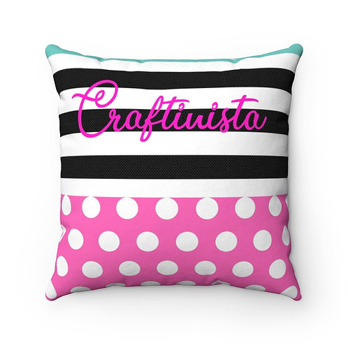 Josie /Craftinista dual-sided Spun Polyester Square Pillow