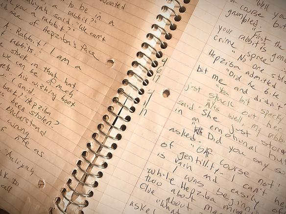 Hand written text