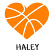 Basketball Heart w/Name