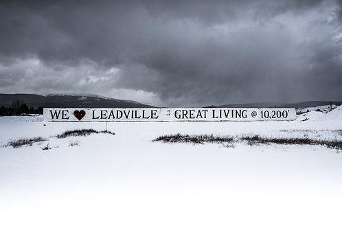 We Love Leadville Metal Print