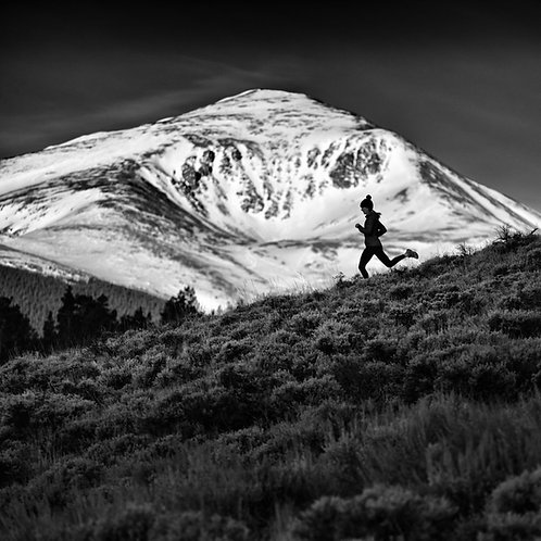 Mt Elbert Runner Metal Print