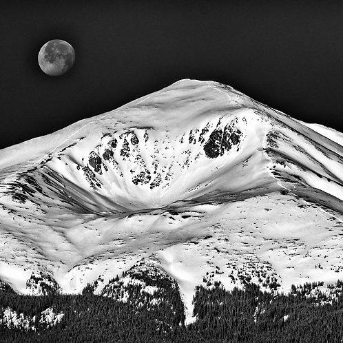 Mt Elbert Moon Metal Print