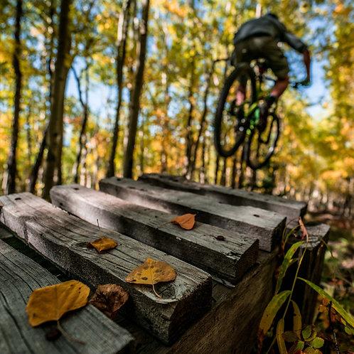 Aspens Bike Jump Metal Print