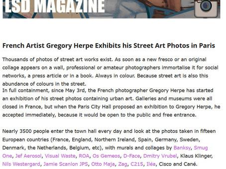 In the London Street Art & Design magazine, in London, UK