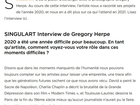 My new interview in Singulart Magazine - French edition