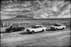 3 Cabs in the Desert - Gobustan, Azerbaijan