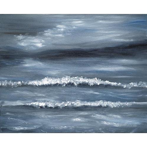 Moonlit Breakers Oil Painting