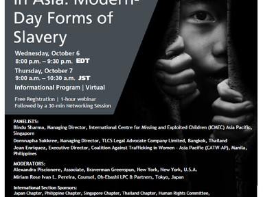 MAST is excited to support this webinar which aims to put a spotlight on human trafficking in Asia.
