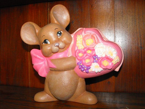 Mouse with Flower Heart