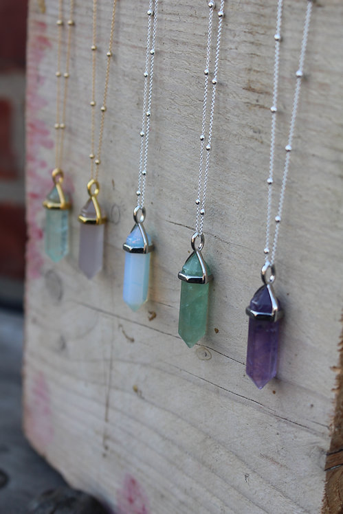 Silver Cosmic Crystal Necklace