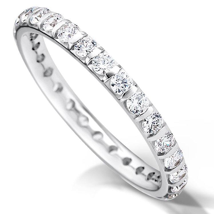Full Bar Set Diamond Ring