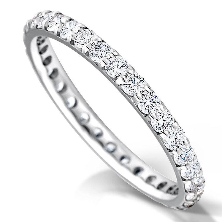 Full Claw Set Diamond Ring