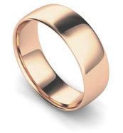 9ct Rose Gold 7mm Traditional Court Wedding Band