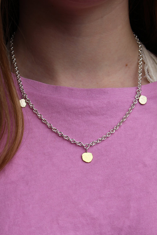 Silver & Gold Disc Necklace