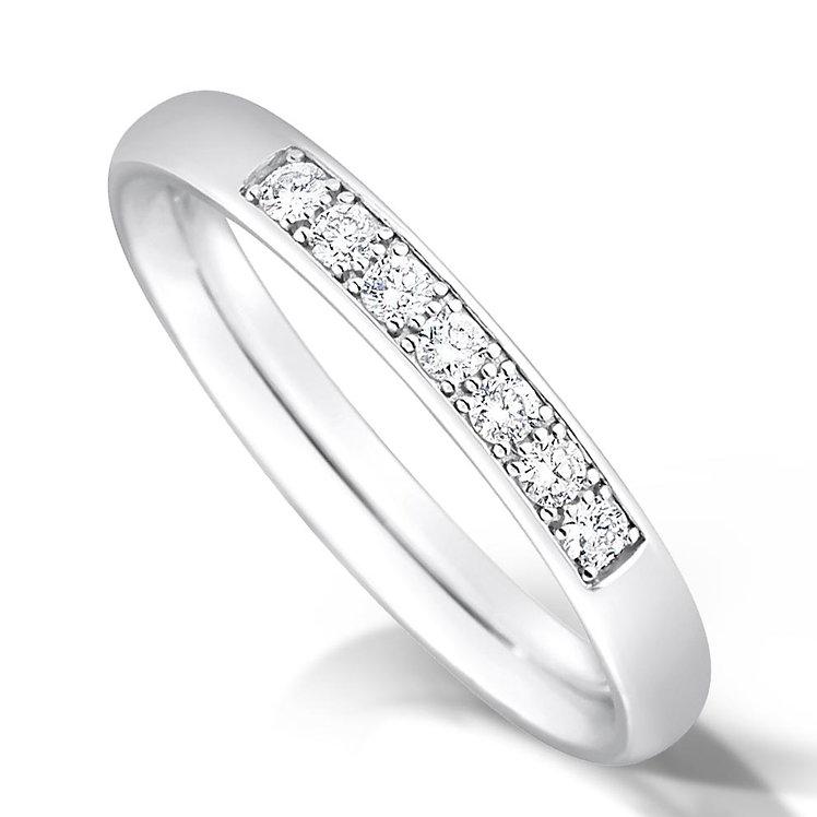Quater Pave Set Diamond Ring