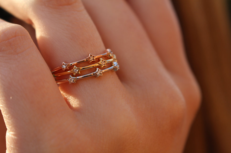 Tiny Star Stackable Ring
