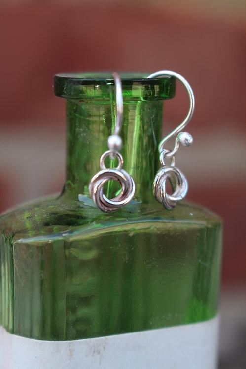 Silver Celtic Drop Earrings