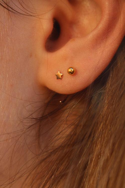 Tiny Star Pull Through Earrings