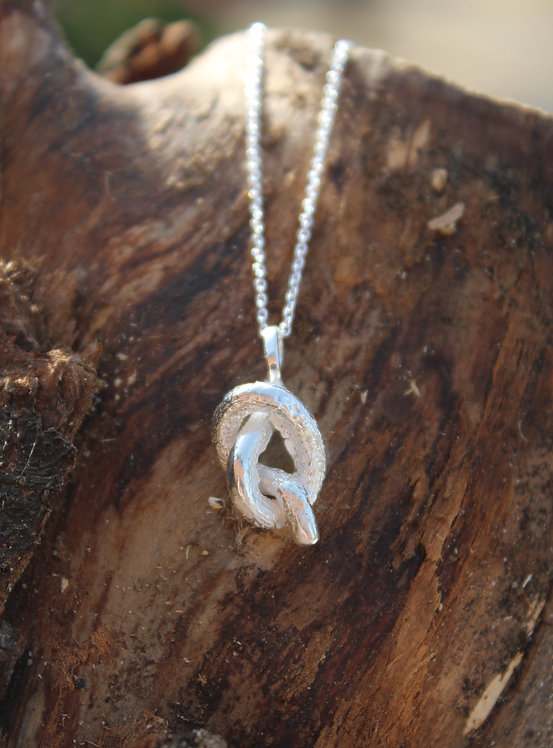 Silver Knotted Pendant