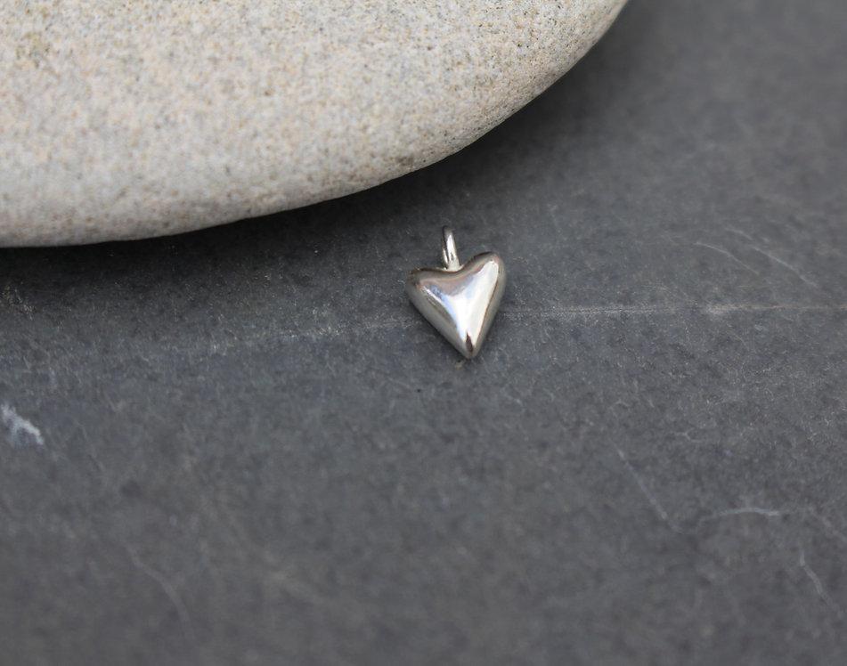 Silver Tiny Heart Charm