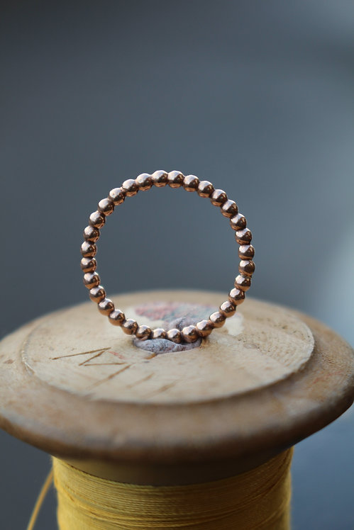 Rose Gold Bobble Stackable Spacer Ring