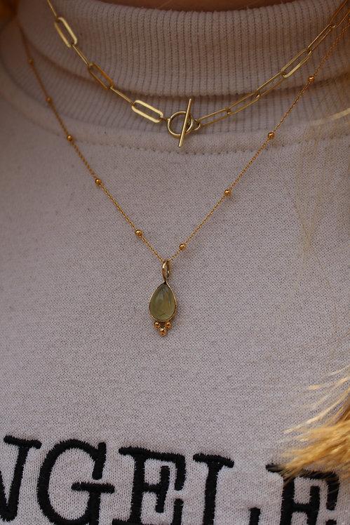 Gold Perinite Bali Necklace