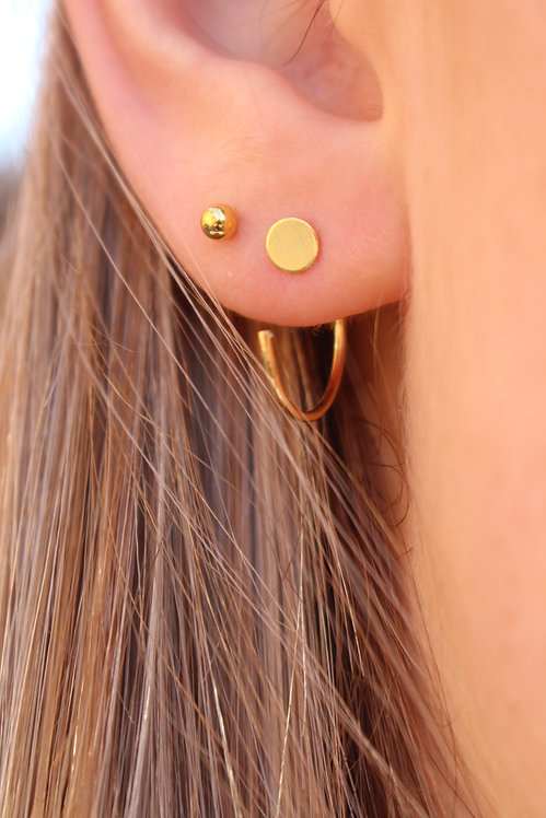 Flat Disc Pull Through Earrings