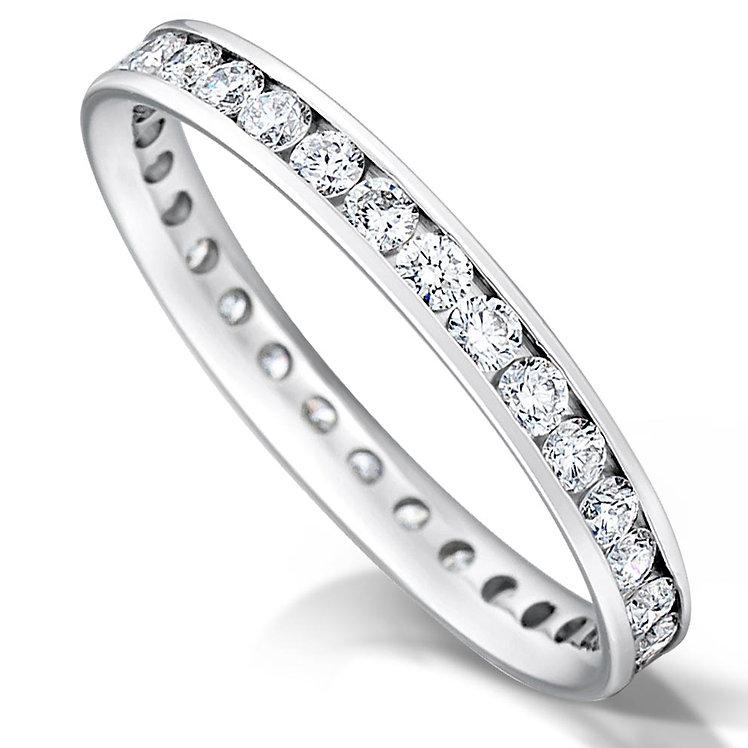 Full Channel Set Diamond Ring
