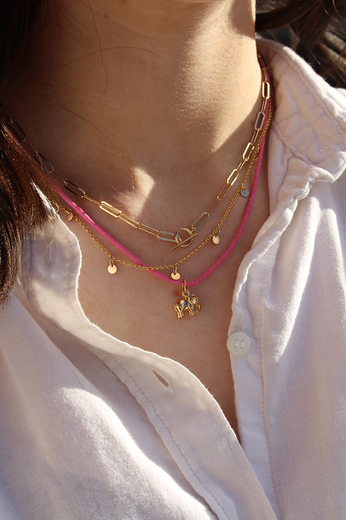 Pink Beach Bead Necklace